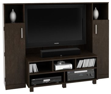 Ameriwood Home Entertainment Center in Black Forest transitional media storage