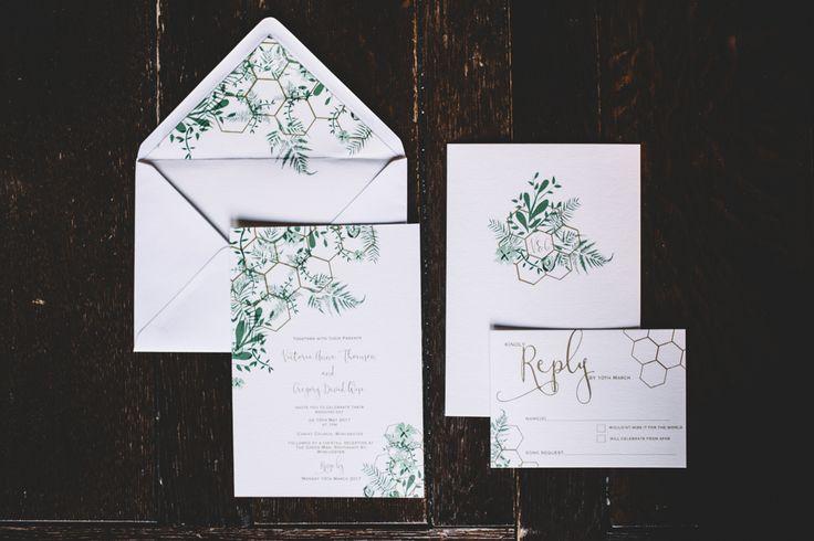 Botanical & Geometric Stationery Suite by Geri Loves Emi