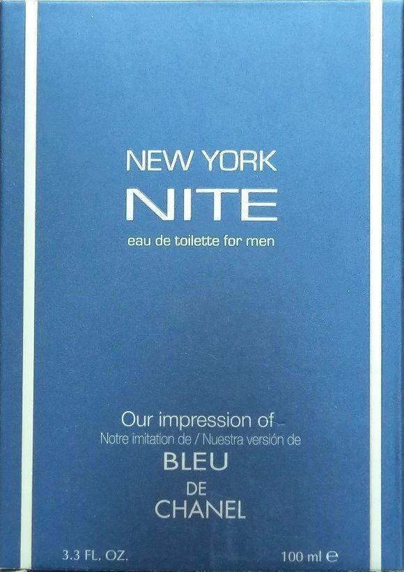 NEW YORK NITE eau de toilette for Men ~ Impression of Bleu de Chanel 3.3 oz *NEW #PreferredFragrance