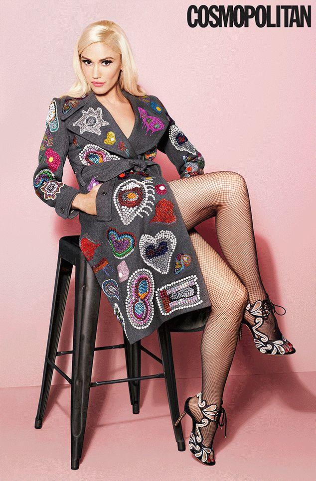 #MUSTHAVE #COAT #SHOES Gwen Stefani, Cosmopolitan Magazine