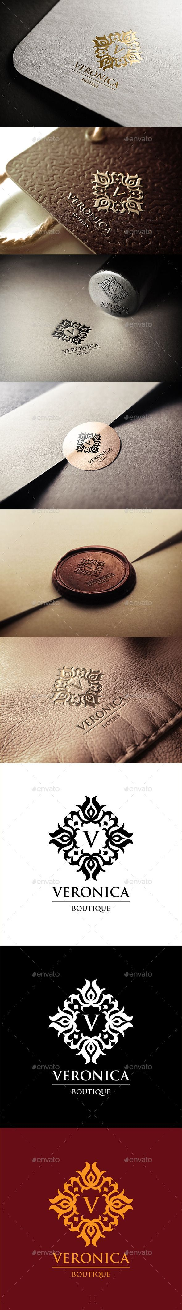 Veronica Hotels Logo Template #design #logotype Download: http://graphicriver.net/item/veronica-hotels-logo/11256338?ref=ksioks