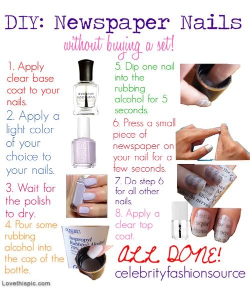 DIY Newspaper Nails Pictures, Photos, and Images for Facebook, Tumblr, Pinterest, and Twitter