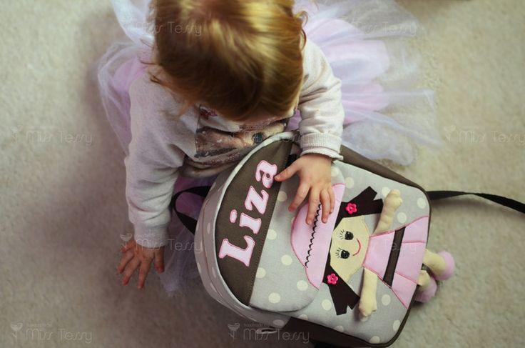 Rucksäcke - Tessy rucksack | Kinderrucksack mit namen - ein Designerstück von MissTessy bei DaWanda