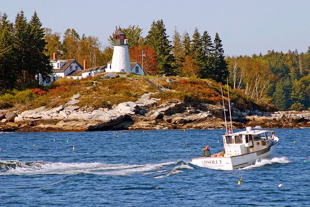 Burnt Island Lighthouse, Boothbay Harbor, Maine