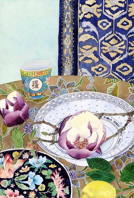 magnolias plates and lemon | GABBY MALPAS