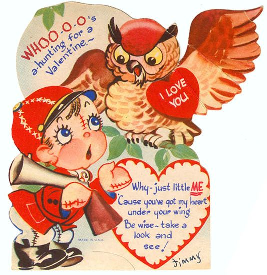 131 best Vintage valentine Cards  Spooky  Owls images on