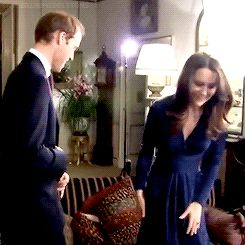 Sitting down for the engagement interview. Adorable! Credit: catherinemiddletons on Tumblr