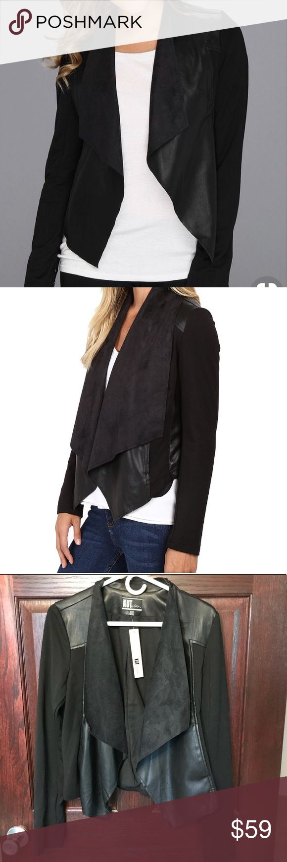 NWT - Kut From the Kloth Faux Leather Jacket Super soft and comfy and has a bit of stretch! Great for layering and for fall. Kut from the Kloth Jackets & Coats Blazers