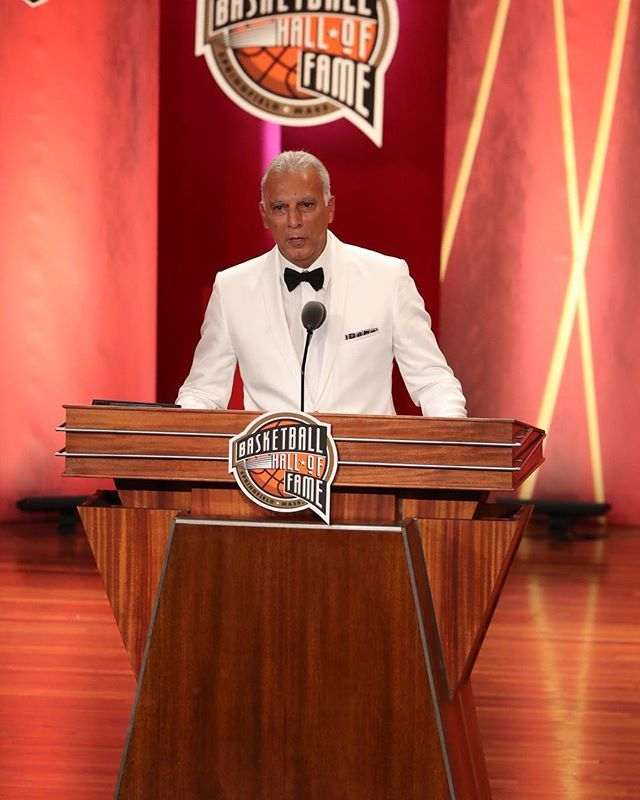 Nick Galis is now officially enshrined member of the Naismith Memorial Basketball Hall of Fame. #17HoopClass