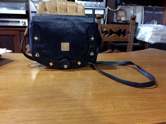 MCM  SALE From 120  Vintage Black Pebbled by wherearemyblahniks