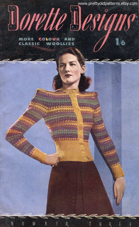 The 287 best Vintage knitting patterns - women\'s cardigans. images ...