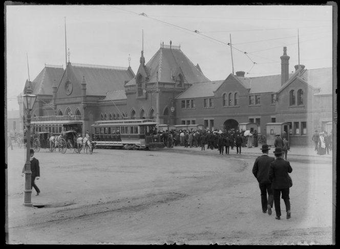 Railway Station, Christchurch 1880's