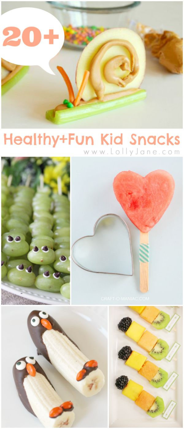 healthy and fun kid snacks