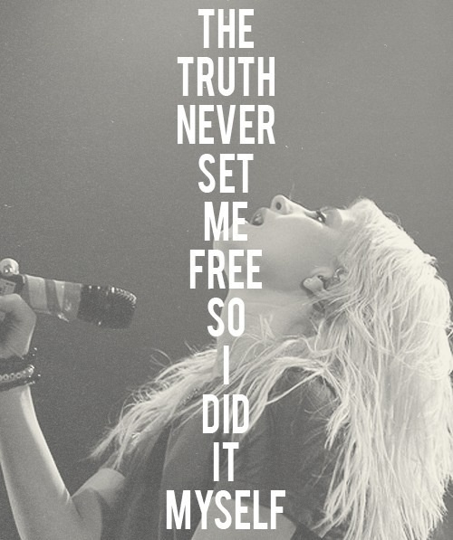 Paramore Careful The truth never set me free so I did it myself