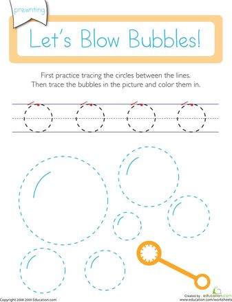 Worksheets: Prewriting Skills: Circles