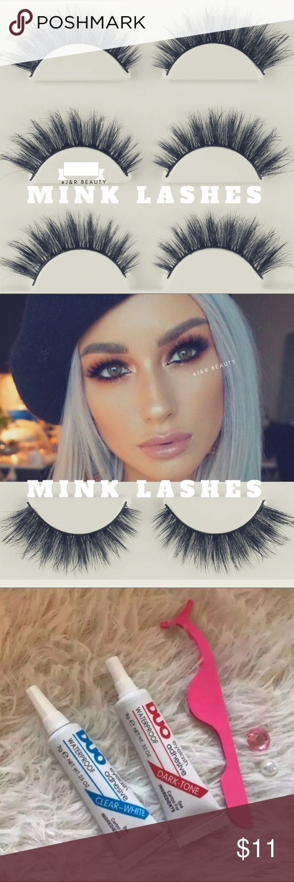 Mink eyelashes 3 Pairs +$2 Add on eyelash Applicator  +$3 Add on eyelash glue Please message me if you want to add them.  # tags Iconic, mink, red cherry eyelashes, house of lashes, doll, kawaii, case, full, natural,  Koko, Ardell, wispies, Demi , makeup, Iconic, mink, red cherry eyelashes, house of lashes, doll, kawaii, case, full, natural,  Koko, Ardell, wispies, Demi , makeup, mascara, eyelash applicator, Mykonos Mink , Lashes , wispy ,eyelash case, mink lashes  Ship within 24 hours ❣️…