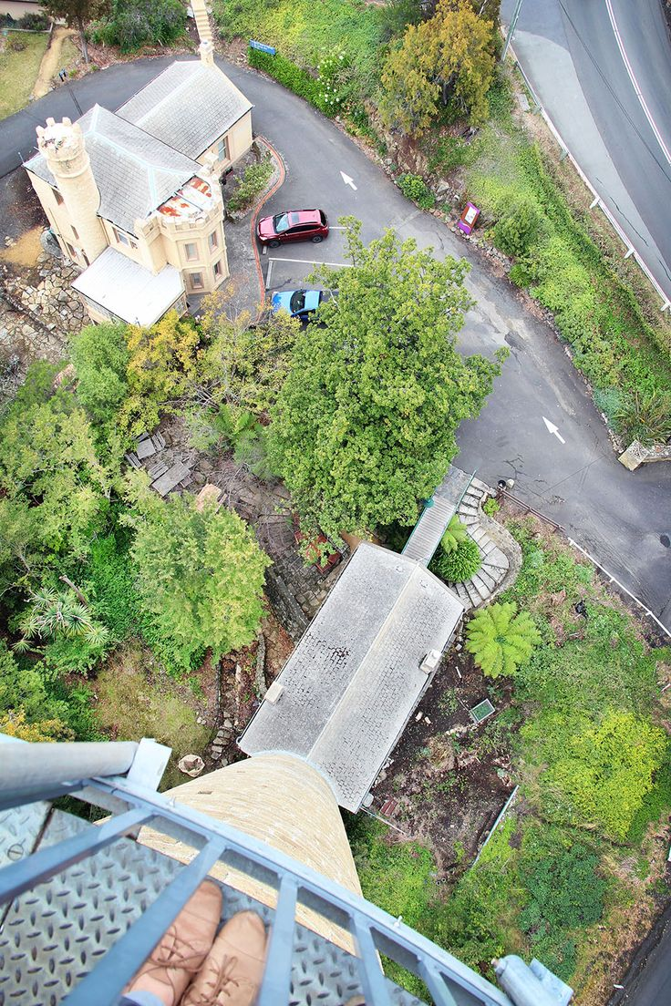 Looking down from the Taroona Shot Tower, Tasmania / A Globe Well Travelled