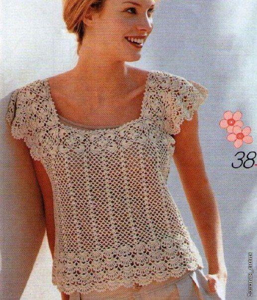 mis pasatiempos amo el crochet precioso patr n de blusa