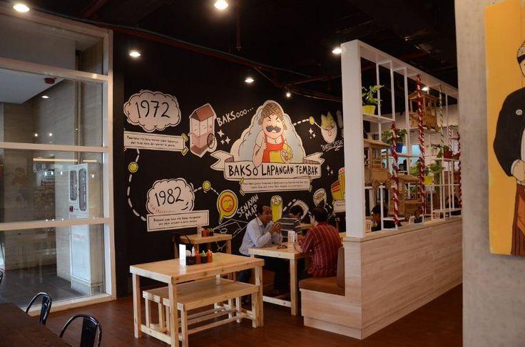 Bakso Lapangan Tembak Senayan Tangcity, Mural for Restaurant-Mural by iMural