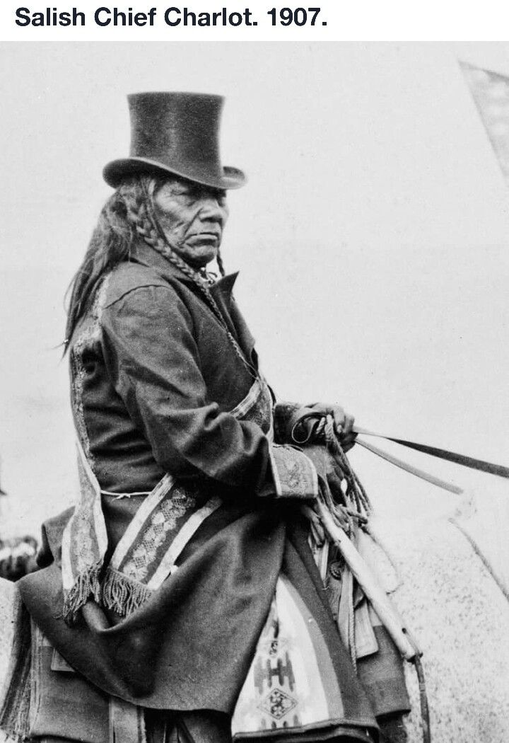 Native American Man On Horseback.