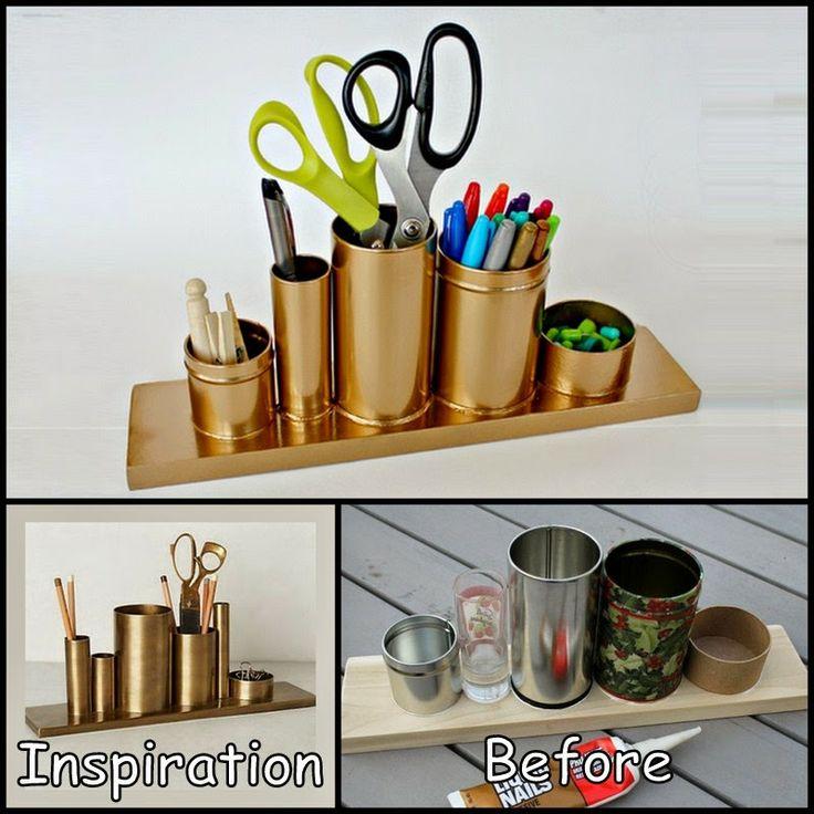 Codify Gold Pencil Holder | Spray Painted Items | Pinterest