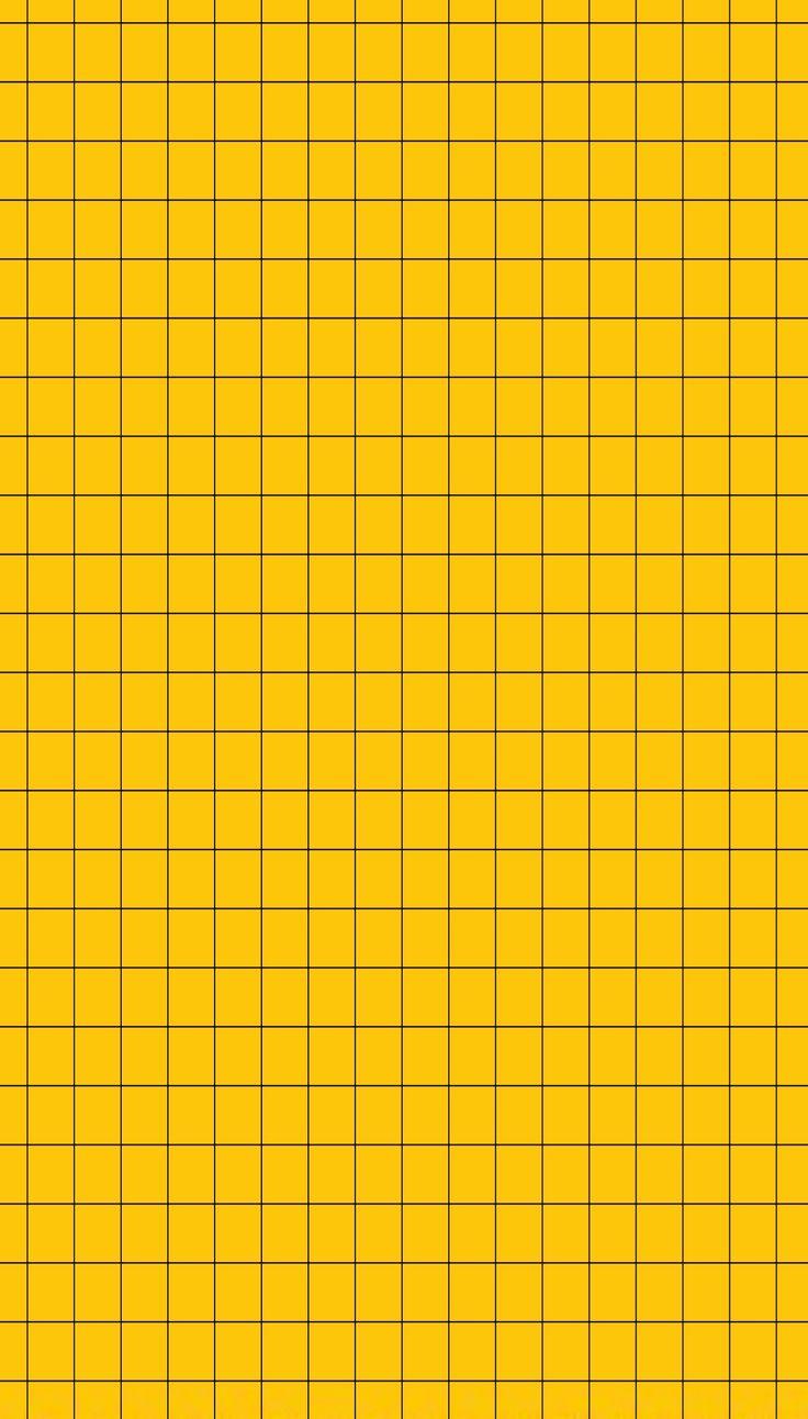 basic mustard yellow and black grid wallpaper iphone