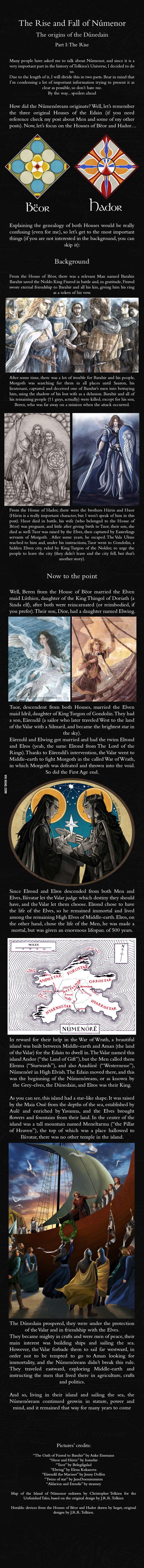 Númenor and the Dúnedain: Part I - J.R.R. Tolkien's Mythology