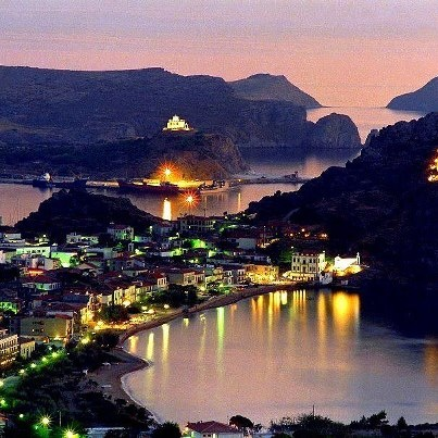 Myrina port, Limnos island Greece