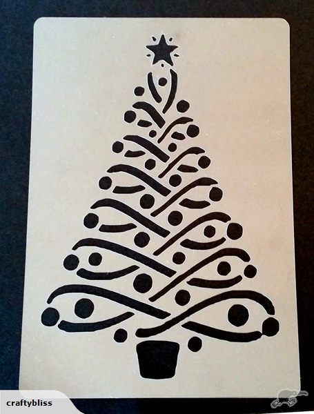 Christmas Tree #2 plastic stencil | Trade Me