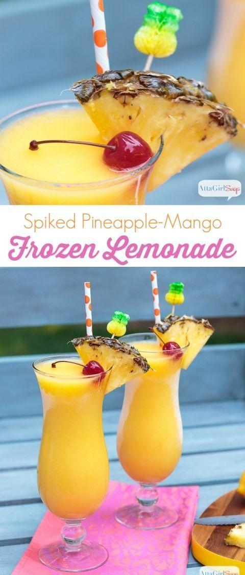 Spiked Pinaapple-Mango Frozen