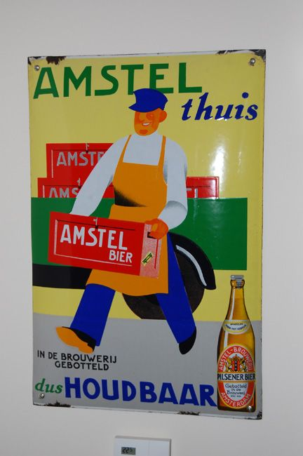 Emaille bord Amstel