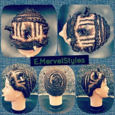 3 Part Sew In Braid Pattern.