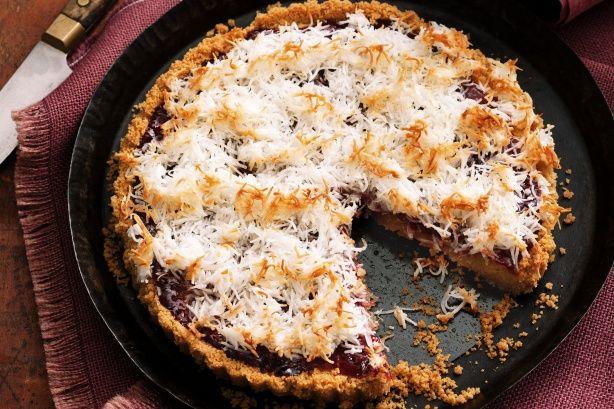 Jam and macaroon tart
