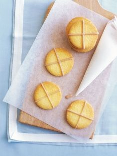 cinnamon-cross cookies 185g butter, softened 1 cup (220g) caster (superfine) sugar 2½ cups (375g) plain (all-purpose) flour 1 egg 1 egg yolk cinnamon icing ¾ cup (120g) pure icing (confectioner's) sugar, sifted 1 tablespoon water 1 teaspoon cinnamon