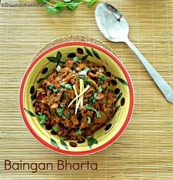 12 best vegan indian food images on pinterest vegan indian food baigan bharta punjabi baingan bharta oven roasted eggplant recipe forumfinder Gallery