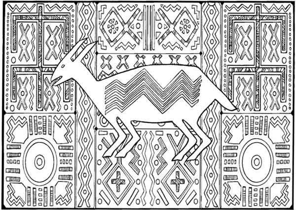 Textile patterns Bambara (Mali)