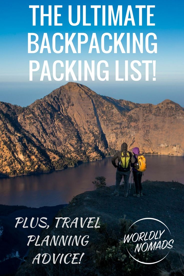EVERYTHING you need for your backpacking packing list! Guide includes which size backpack to choose, what clothes to pack and what technology to take!