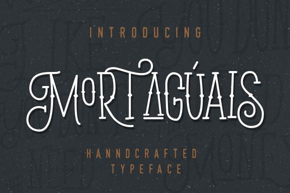 Mortaguais Typeface by Dirtyline Studio on @creativemarket
