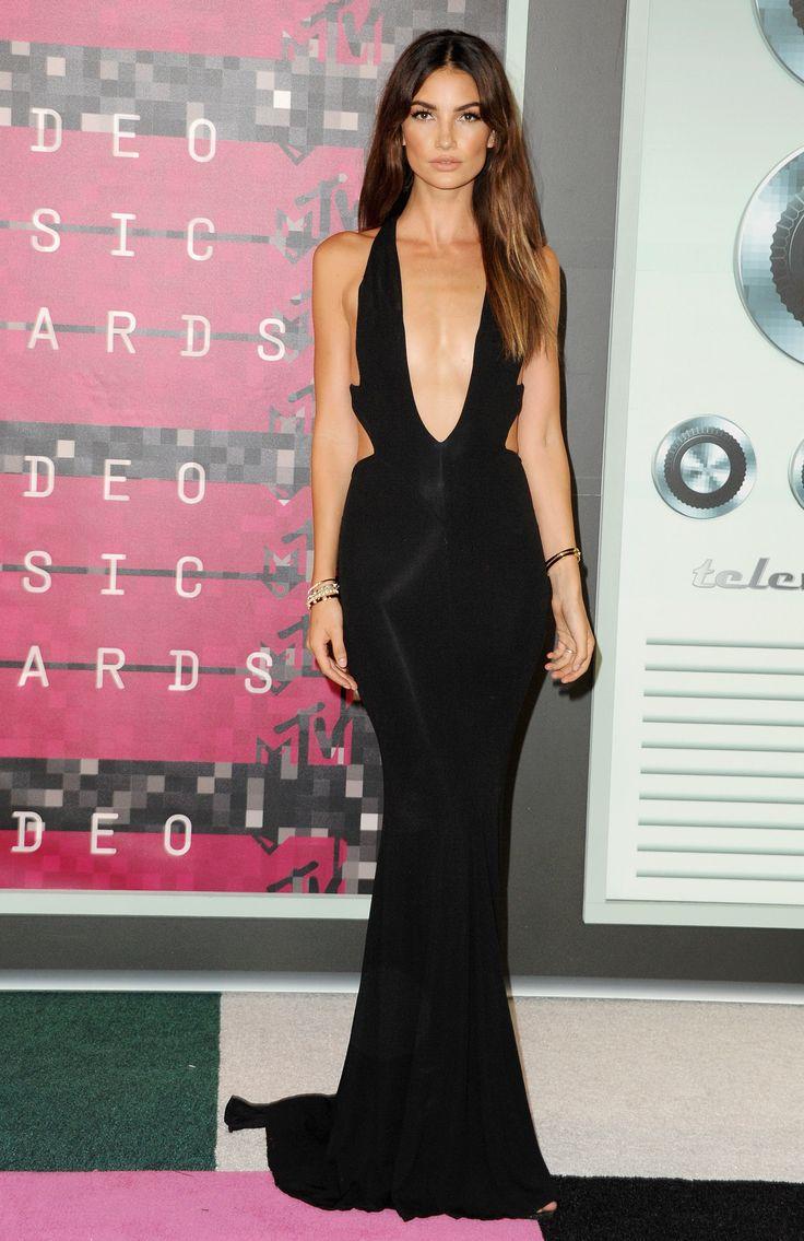 Lily Aldridge wearing Alexandra Vauthier - MTV VMAS 2015 red carpet   Video Music Awards   Harper's Bazaar