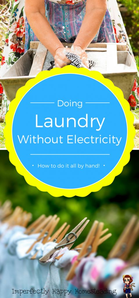 Doing Laundry Without Electricity - How to do it all by hand!