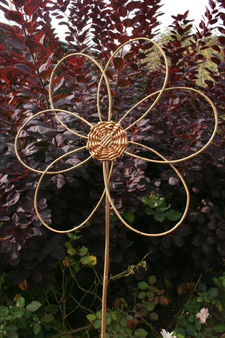 Woven Willow Flower Project Included In Book Willow Craft 10