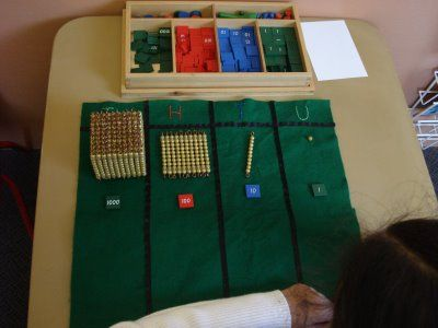 Transition from Golden Bead and Stamp Game... It's what hooked me onto Montessori materials!