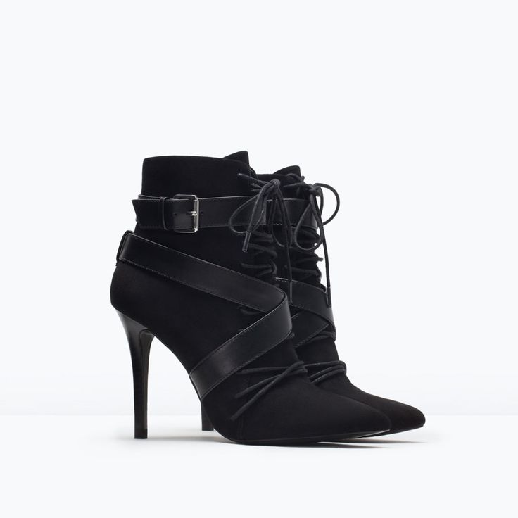 Image 2 of LACE-UP HIGH HEELED BOOTIE from Zara