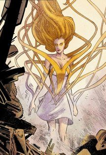 The Golden Glider of the new 52 universe for DC Comics.  Art by Francis Manupal.