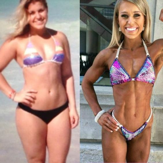 before and after reverse dieting, how to reverse diet for a bikini competitor,