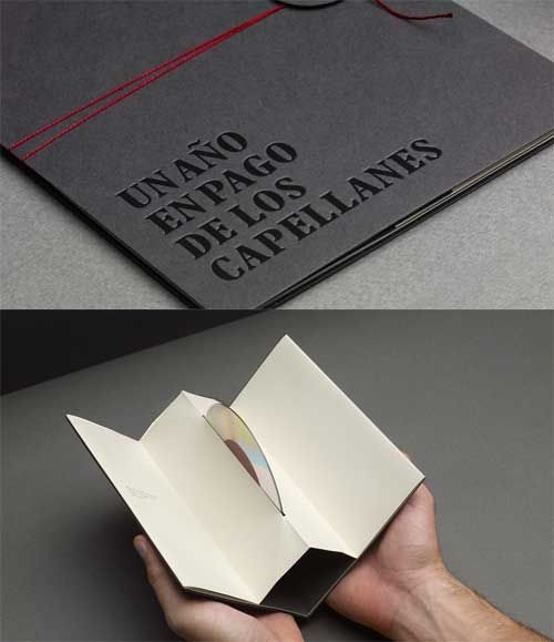 This is a pleasant twist on CD packaging, which usually does not stray from the plain clear CD box.