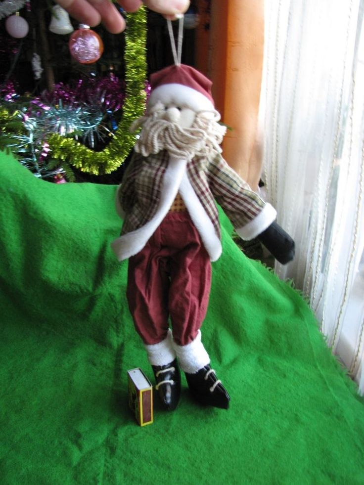 Vintage Large Christmas Doll Gnome Santa Tomte Sweden Figurine Red Soft