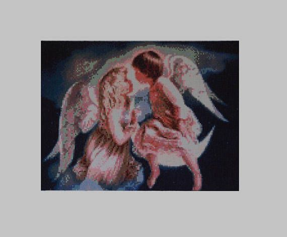 Angels Diamond Painting Finished Completed Wall Decor Embroidery Cross Stitch Rhinestone Needlework Religion Mosaic