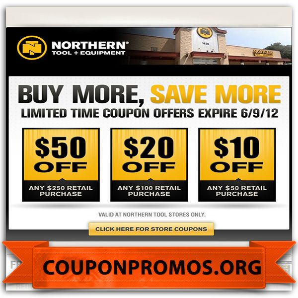 image relating to Northern Tool in Store Coupons Printable identify northern device lower price discount codes - December 2014 Printable