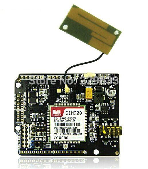 Gsm / GPRS escudo sim900 placa de desenvolvimento comunicação sem fio, Módulo de antena de ganho kit Arduino